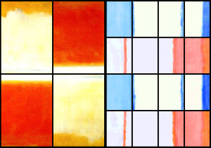 Four panels, and Sixteen.  Colors care of Rothko.