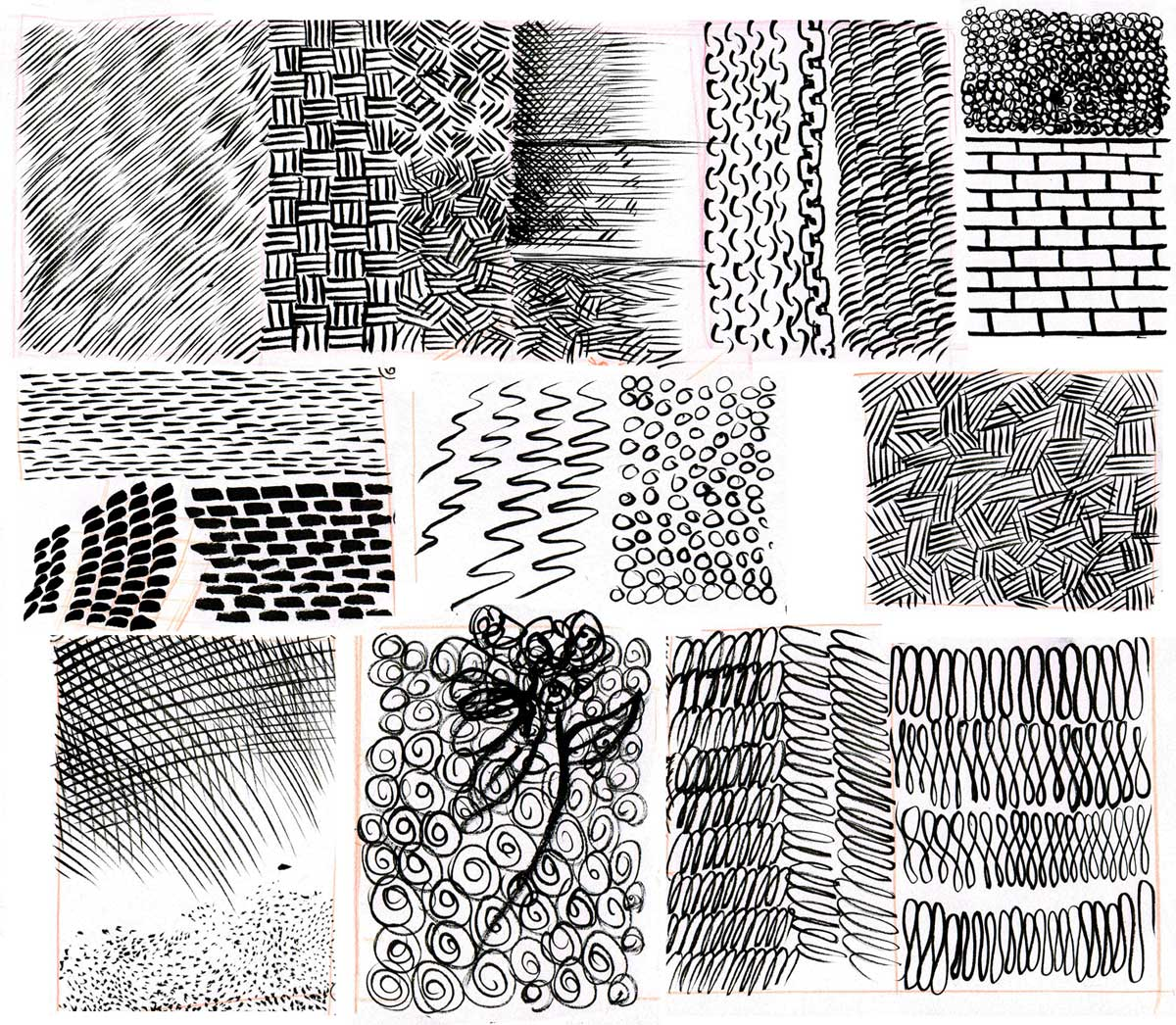 These examples are done with a brush but do them with pen and pencil too heres sketch drawing wikipedia